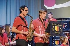 Jugendmusik-Solisten Janis Roth und Robin Hug.