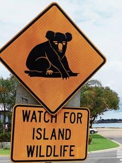 Hinweis auf Raymond Island auf die Wildtiere.