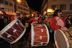 Eintrommeln in Altdorf. (Bild: Urs Hanhart, 27. Februar 2019)