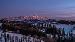 Abendstimmung über dem Säntis. Aufgenommen vom Höhenweg Herisau aus. (Bild: Luciano Pau)