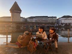 Morgenstiimmung an der Reuss während der Fritschitagwache eingefangen von unserer Leserin Yvonne Ruckstuhl.