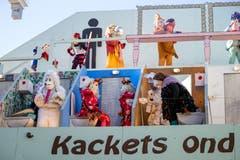 Gruppe Moggetätscher auf dem Dach des Stadtkellers. (Bild: Philipp Schmidli)