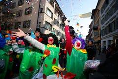 Clownnasen dürfen nicht fehlen. (Bild: Stefan Kaiser (Zug, 28. Februar 2019))