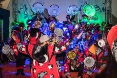 Die Belcantos aus Baar sorgen für fetzige Klänge. (Bild: Christian H. Hildebrand, (Zug, 28. Februar 2019))