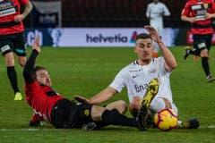 Der SC Kriens lieferte dem Titelverteidiger einen harten Cup-Fight. (Bild: Andy Müller/freshfocus (Zürich, 28. Februar 2019))