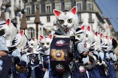 Die Chatzemusig Lozrn mit dem Motto Königinnen der Katzen.