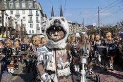 Guggenmusik Rotseemöven Littau mit dem Motto Klimamutanten.
