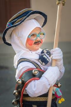 Der kleine Nüssler ist ganz stolz. (Bild: Christian H. Hildebrand, (Unterägeri, 28.Februar 2019))