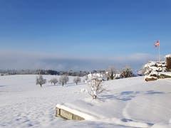 Morgensonne mit Schneelandschaft. (Bild: Pamela Zingale (Hildisrieden, 4. Februar 2019)