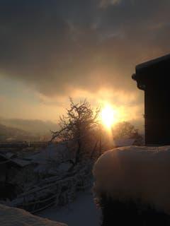 Ein herrlicher Montagmorgen. (Bild: Dora Mehr-Bühler, Kriens, 4. Februar 2019)