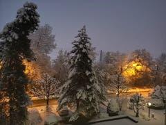 Winterabend mit viel Schnee. (Bild: Patricia Brauchli (Emmenbrücke, 3. Februar 2019))
