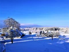 Wunderbare Morgenstimmung im Winterwunderland von Neudorf. (Bild: Urs Gutfleisch, Neudorf, 4. Februar 2019)