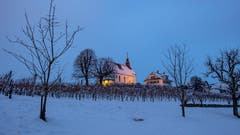 Die Kapelle Mariazell in der Abenddämmerung. (Bild: Gregor Gander-Thür, Sursee, 4. Februar 2019)