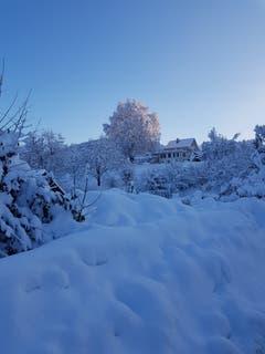 Winterspaziergang über den Wolfgangweg in St. Gallen. (Bild: Barbara Mauchle)