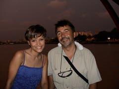 Marco Lucchi zusammen mit Sängerin Francine Jordi. (Bild: PD)