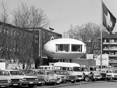 Kugelhaus an der Mustermesse 1969. (Bild: KEYSTONE/STR)