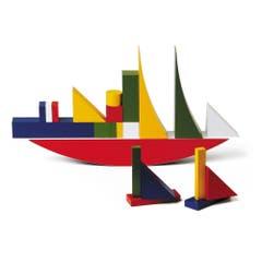Design für Kinder: Bauhaus-Bauklötze von Alma Siedhoff-Buscher, bei Naef Spiele, 159 Franken