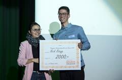 Gewinner in der Kategorie Nachwuchs war Leichtathlet Nick Rüegg. (Bild: Reto Martin)