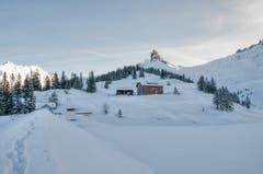 Tiefste Pulverlandschaft auf Bannalp. (Bild: Caroline Pirskanen, 8. Februar 2019)