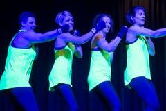 Der DTV Oberaach zeigt in einer Pause eine Tanzeinlage. (Bild: Reto Martin)