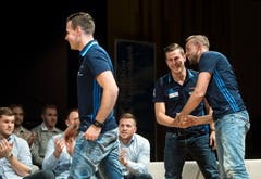 Freude bei den Faustballern des STV Wigoltingen. (Bild: Reto Martin)