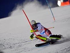 Auch im Slalom fährt Wendy Holdener stark - am sprechen 3 Hundertstel für sie (Bild: KEYSTONE/EPA/CHRISTIAN BRUNA)
