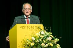 Christoph Tobler, Präsident von Panathlon Thurgau, spricht zur Eröffnung. (Bild: Reto Martin)