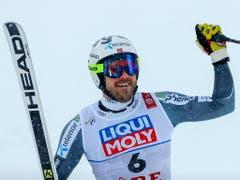 Kjetil Jansrud - der neue Abfahrts-Weltmeister (Bild: KEYSTONE/EPA/VALDRIN XHEMAJ)