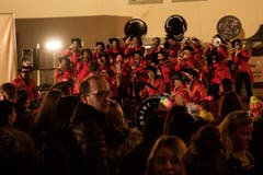 Die Dicker Gugge war am Städtli-Monster in Lichtensteig mit von der Partie. (Bild: Sascha Erni, 28. Februar 2019)