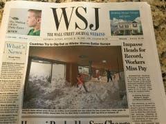 Das abgedruckte Lawinenbild von der Schwägalp im «Wall Street Journal».