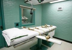 Der Hinrichtungsraum im Gefängnis von Huntsville, Texas. Hier sterben zum Tod verurteilte Straftäter durch die Giftspritze. Das erste Todesurteil per Giftspritze in den USA wurde 1982 vollstreckt. (Bild: Keystone)