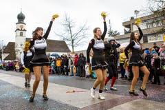 Cheerleader tanzten um die Wette. (Bild: Patrick Hürlimann, Steinhausen, 1. März 2019)