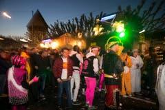 Auch DJ's heizen mächtig ein, wie hier an der Bahnhofstrasse. (Bild: Manuela Jans-Koch, Luzern, 28. Februar 2019)