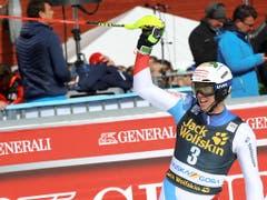 Ramon Zenhäusern gewinnt seinen ersten Weltcup-Slalom (Bild: KEYSTONE/AP/MARCO TROVATI)