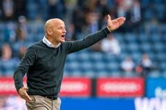 Sichtlich unzufrieden mit der Leistung seines Teams: St. Gallen-Trainer Peter Zeidler. (Bild: Martin Meienberger/freshfocus, Luzern, 10. März 2019)