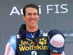 Ramon Zenhäusern mit dem Lächeln des Siegers (Bild: KEYSTONE/AP/MARCO TROVATI)