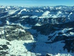 Winterstimmung im Toggenburg, Blick auf die Churfirsten. (Bild: Ursula Gebendinger)