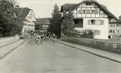 Start des Rennens Rothenburg - Engelberg 1947. Immer wieder waren grosse Namen dabei. (Bild: PD)