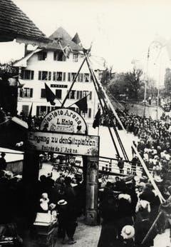 Die Arena Knie 1909 in Lenzburg. (Bild: PD/Archiv Circus Knie)