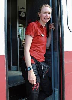 Zugbegleiterin Sofia Wrangel.