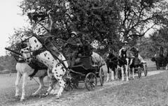 1940 müssen auch die Pferde des Zirkus Knie ins Militär. (Bild: PD/Archiv Circus Knie)