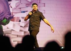 Der Comedian in Aktion bei «Ausrasten! für Anfänger» in Wolfsburg am 17. Januar 2019. (Bild: Darius Simka/Imago)