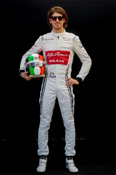 Antonio Giovinazzi (ITA, 25), Alfa Romeo-Ferrari. Starts: 2, Siege: 0, WM-Punkte 0. (Bild EPA/Diego Azubel (Melbourne, 14. März 2019))