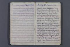 Höhlentagebuch, Drachenloch, Theophil Nigg, 9. August 1917. (Bild: Staatsarchiv Graubünden)