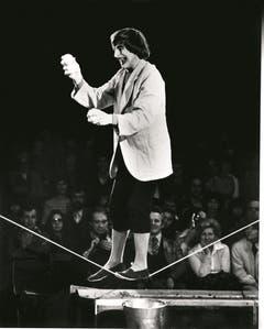 1973: Dimitri auf dem Seil. (Bild: PD/Archiv Circus Knie)