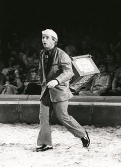 Emil 1977 als Glaceverkäufer. (Bild: PD/Archiv Circus Knie)