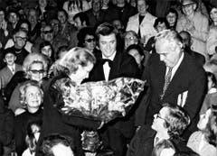 Fredy Knie jun. (Mitte) mit Grace Kelly und Prinz Albert von Monaco 1973. (Bild: PD/Archiv Circus Knie)