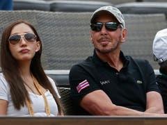 Larry Ellison, Gründer und CEO von Oracle und einer der reichsten Millardäre der Welt, sass als Besitzer des Turniers von Indian Wells auch während des Finals wieder in der 1. Reihe (Bild: KEYSTONE/EPA/LARRY W. SMITH)