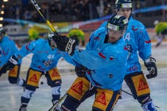 Der Zuger David McIntyre vor dem Eishockey Meisterschaftsspiel gegen den HC Ambri-Piotta. (Bild: KEYSTONE/Urs Flüeler, 2. März 2019)