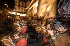 Strassen- und Beizenfasnacht am Samstagabend in Luzern: Im Bild die Bärgwörze Udlige. (Bild: Roger Grütter, Luzern, 2. März 2019)